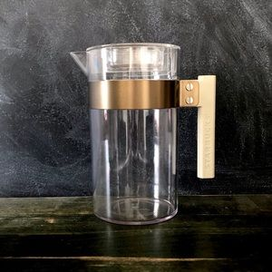 Starbucks 32 oz. Acrylic Pitcher with Gold Accent